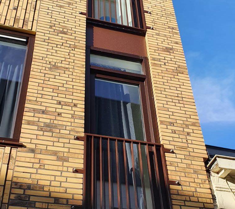 Franse balkons/doorval beveiliging Kleine Marktstraat Assen
